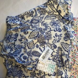 LuLaRoe 2XL NWT Valentina/ Button Front/ Bl & Wh
